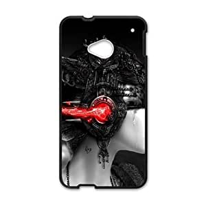 HTC One M7 Phone Case Black Selective Coloring Women SEW5337008