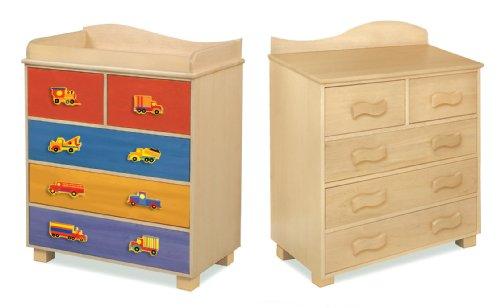 Room Magic Natural 5 Drawer Chest, Boys Like Trucks