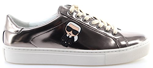 Scarpe Donna Kl610331md Karl Lace Lagerfeld Sneaker Argento Mirror Ikonic Silver Leather rrF1P