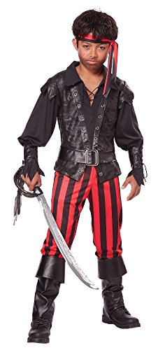 California Costumes Briny Buccaneer Costume, One Color, 12-14