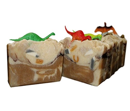 NATURE'S DARLING Natural Handmade Sleepy Time Dinosaur Soap with Chamomile Tea