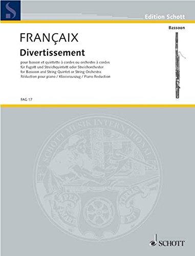 Divertissement (Allemand) Broché – 1 janvier 2000 Jean Françaix Schott Music 3795797942 Musikalien