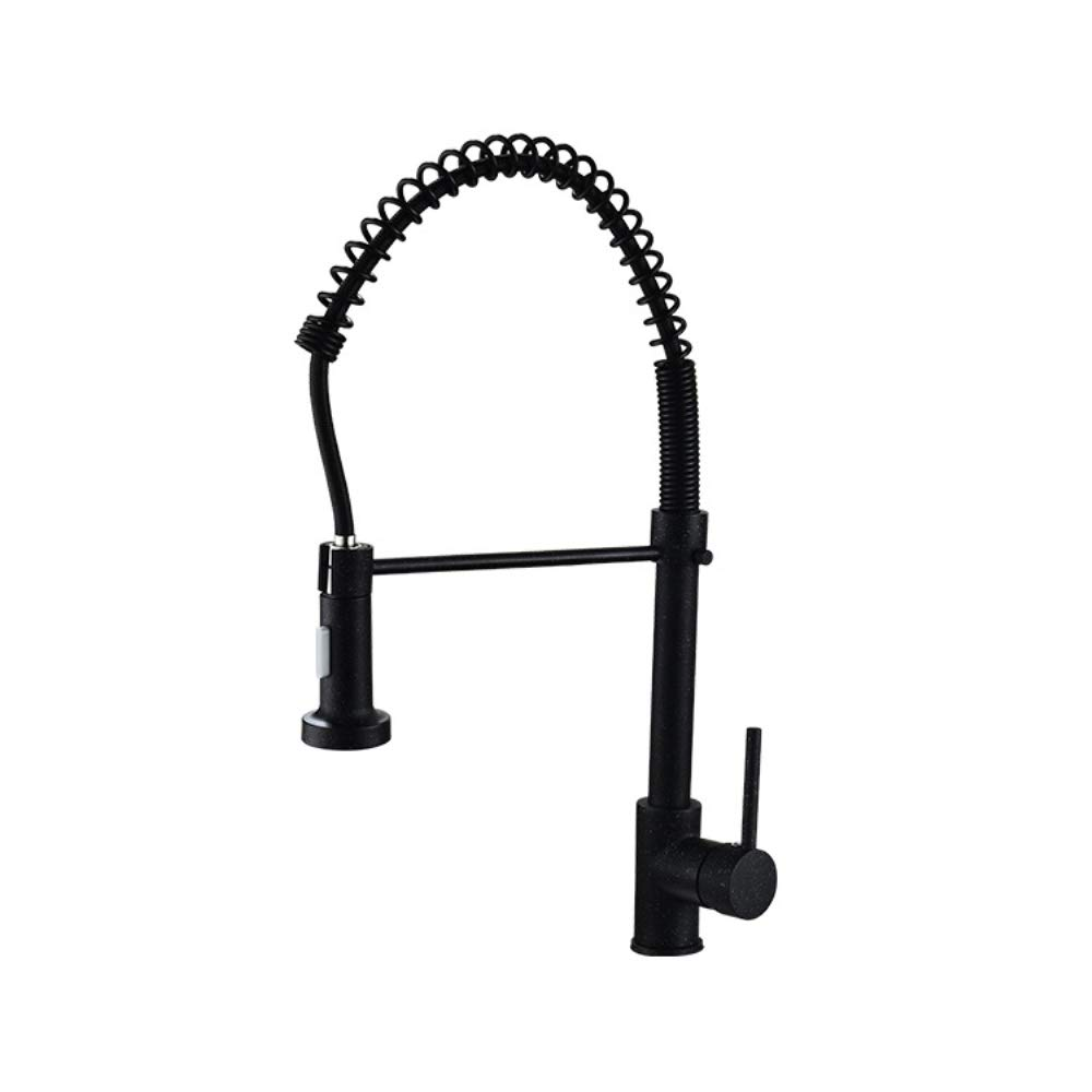 JackeyLove Chrome Monobloc 360 ° Pulldown Kitchen Sink Mixer Tap Swivel Spring Spout Pull Out Bar Tap