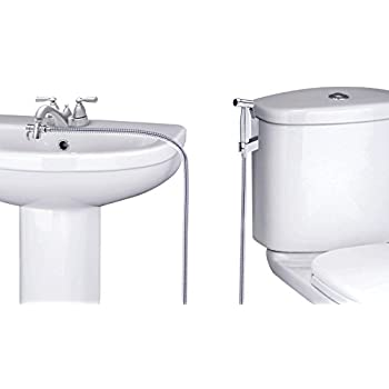 SmarterFresh Faucet Bidet Sprayer for Toilet - Warm Water Handheld Sprayer with Sink Hose Attachment for Bathroom