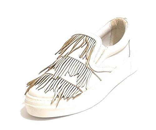 Slipon Col Con Pixy Pelle In Nappe Scarpe Bianco Donna Ds18pi23 Hqqpg