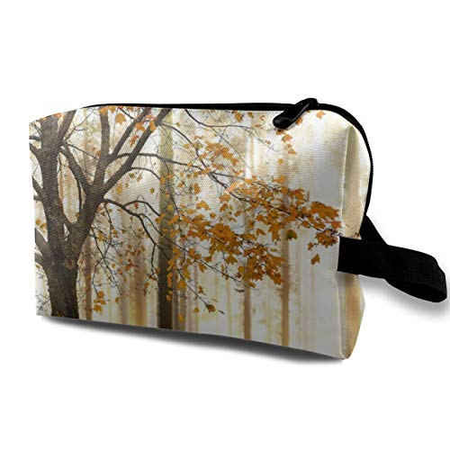 """Bafrsc Autumn Trees Woodsy Country Theme Home Decoration Customized Suitable for Families, Travel 4.9"""" × 6.3"""" × 10.0"""" Large Capacity Lazy Cosmetics"""