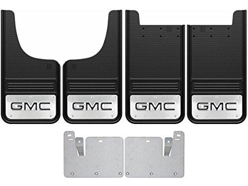Gatorback 2014 18 Gmc Sierra Black Logo Front Rear Truck Mud Flaps Set