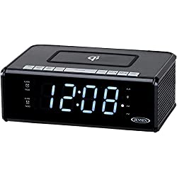 Jensen(r) Qicr-200 Dual Alarm Clock Radio with Qi(r) Charging 9.40in. x 5.00in. x 3.00in.