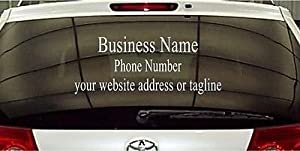 Amazoncom Window Business Sign Vinyl Decal Sticker Sign - Window decals for business on car