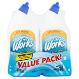 PACK OF 8 - The Works Disinfectant Toilet Bowl Cleaner Value Pack, 64 fl oz