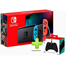 Consola Nintendo Switch Neon 32GB (Nueva Version) + Control Horipad Bundle