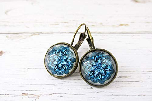 Earrings drop cabochons