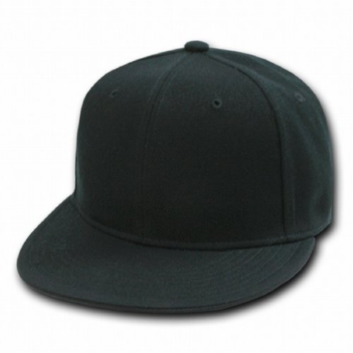 DECKY Retro Fitted Cap, Black, 7 1/2 from DECKY