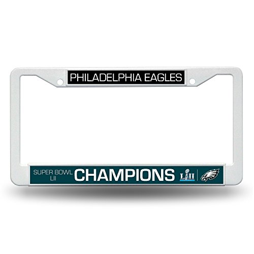 NFL Philadelphia Eagles Super Bowl LII Champs Plastic License Plate Frame (Frame Bowl Super)