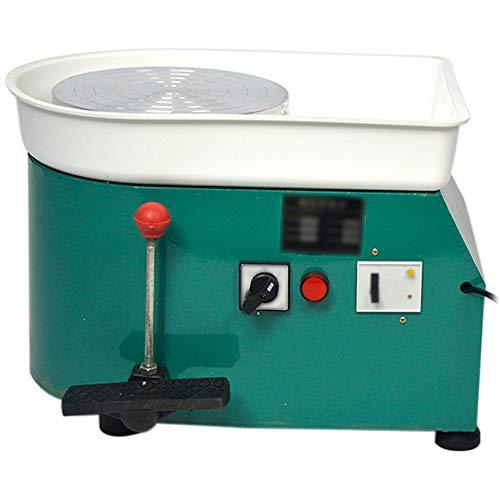 FLBETYY Pottery Wheel Forming Machine 25CM Electric Pottery Wheel DIY Machine for Ceramic Work Clay Art Craft 110V 350W (Green)