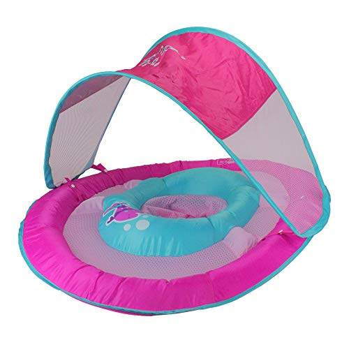 Butterfly Baby Pool - SwimWays Baby Spring Float Sun Canopy - Pink Butterfly