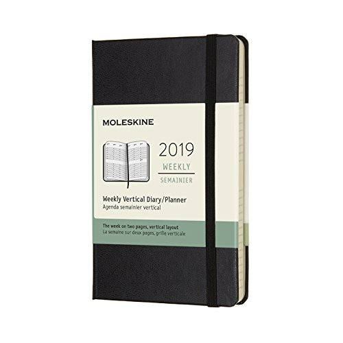 (Moleskine Classic Hard Cover 2019 12 Month Weekly Vertical Planner, Pocket Size (3.5