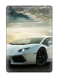 High-quality Durable Protection Case For Ipad Air(white Lamborghini Aventador)
