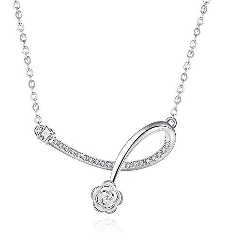 Fern Costume Ideas (Silver Plated Fashion Necklace Flower Pendant Necklace For Women - Matthew L. Garcia)