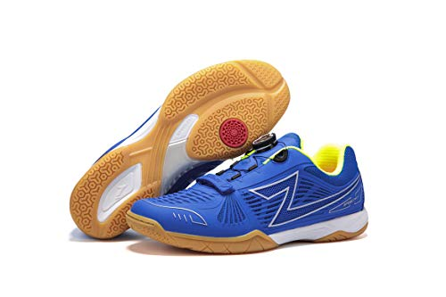 - Ⅱ Table Tennis Shoes,Automatic Lacing System,Excellent Performance and Lightweight Shoes, Breathability and Nonskid Shoes (44, Blue)