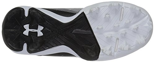 Under Armour Boys' Leadoff Mid Jr. RM Baseball Shoe, Black (011)/White, 1 by Under Armour (Image #3)
