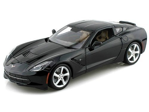 Maisto 2014 Chevrolet Corvette C7 Stingray Black 1/18 Model Car