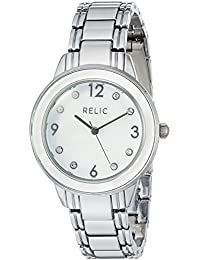 Women's 'Hailey' Quartz Metal and Alloy Casual Watch, Color:Silver-Toned (Model: ZR34408)