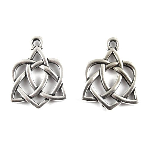 Tierracast Celtic Knot - Silver Small Celtic Open Heart Charms TierraCast Pewter (2 Pcs)