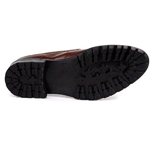 Rotonda NIUMT Scarpe Uomo Pelle in Black Scarpe Stringate Scarpe da Piattaforma Traspirante Basse Testa Elegante wqw1rUPA