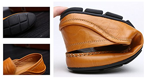 Lapens Lplfs1587, Mocassini Uomo Nero Black, Giallo (Yellow Brown 1), 40