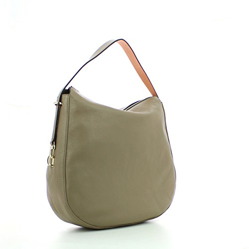 Coccinelle Iggy shoulder bag calf taupe/grapefruit