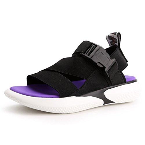 Femmes Sport Sandale Plates Plage Talons Mode Style de de Sandales Noir Ouvertes Antidérapantes qXEXa