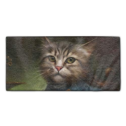 Hand Towels for Bathroom-Hotel-Spa-Kitchen The Hermitage Court Confectioner Apprentice Cat Hair Towel Highly Absorbent 11.8x27.5""""