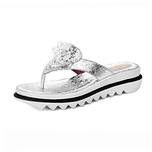 Chaussures Pente Silver Sandales Toe épais Fond Tongs Femmes Clip Fashion à Flip Flop rwrEdqB7x