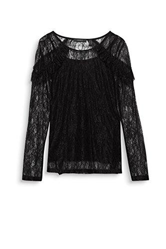 Larga Negro Manga 001 Camisa Mujer Esprit Collection black Para Ow7B17Ux