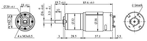 12 RPM HD Planetary Gearmotor w//Encoder