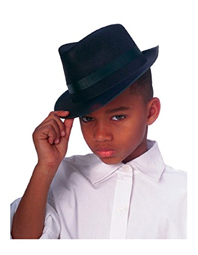 Rubies Black Fedora Child Hat, -
