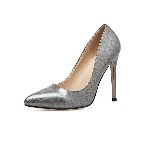 39 con sottile i ZHZNVX grigio scarpe un punta ugello luce con Donna nuova alti tacchi qqTxw16X