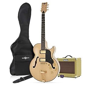 Guitarra San Diego Semiacústica + Ampli SubZero V15G - Natural: Amazon.es: Instrumentos musicales