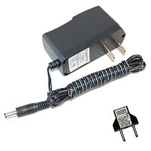 HQRP AC Adapter for Weslo 248512 14730 fits PRO 10.8X BIKE EXERCISER 831.218320, MOMENTUM CT 5.9 Elliptical Exerciser WLEL329090 WLEL329091 WLEL329092 Power Supply Cord 6V 2A 2000mA + Euro Plug Adapter