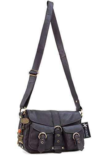 signé Louisa Sac Collection en Besace Catwalk Marron cuir wFxF1q48