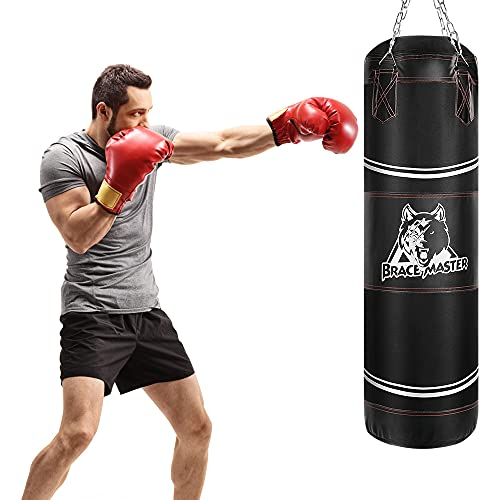 Brace Master Boxing Bag Speed Bag Heavy Bag for Boxing MMA Kickboxing Punching Training for Men and Women