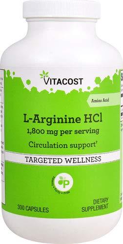 Vitacost L-Arginine HCl -- 1,800 mg per serving - 300 Capsules