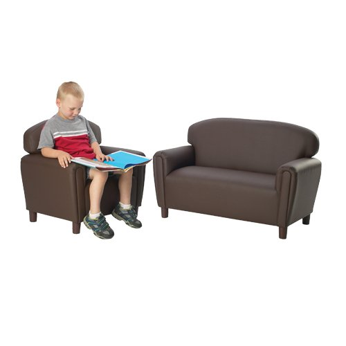 Dramatic Seating Collection- Chocolate Chair & Couch