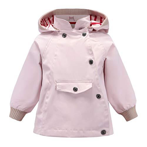 (ACESTAR Boys Girls Waterproof Rain Jacket Coat,Windproof Raincoat Windbreaker Outwear for Kids Children Infant Toddler Spring Fall Jacket(JK007W0,2T) White)