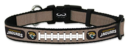 (GameWear NFL Jacksonville Jaguars Reflective Football Collar, Small, Silver)