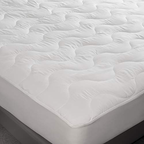 Feelathome Hypoallergenic Fitted Mattress Pad Topper Full Quilted Fitted Bed Mattress Topper Protection Cover Super Soft Comfortable Luxurious Pillowtop With Deep Pockets