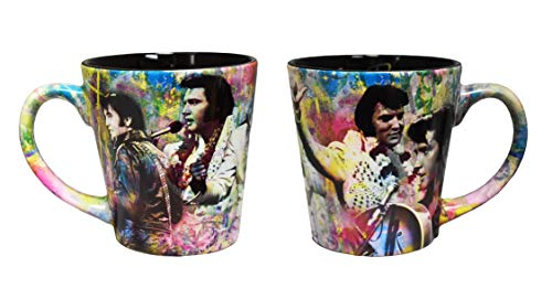 Elvis Presley Mug With Color Collage