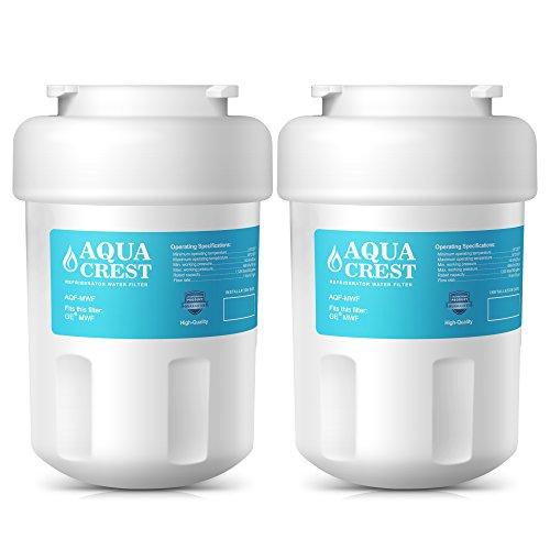 AquaCrest MWF Refrigerator Water Filter Replacement GE MWF SmartWater, MWFA, MWFP, GWF, GWFA, Kenmore 46-9991, 9991 Water Filter (Terminate of 2)