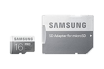Samsung Pro MB-MG16DA/EU - Tarjeta de Memoria Micro SDHC de 16 GB (UHS-I Grade 1, Clase 10, con Adaptador SD)